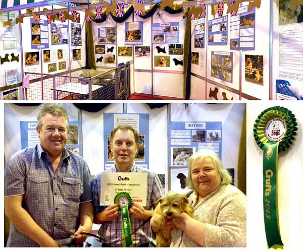 DISCOVER DOGS at CRUFTS 2013 NORFOLK BOOTH WINS BEST TERRIER BOOTH.