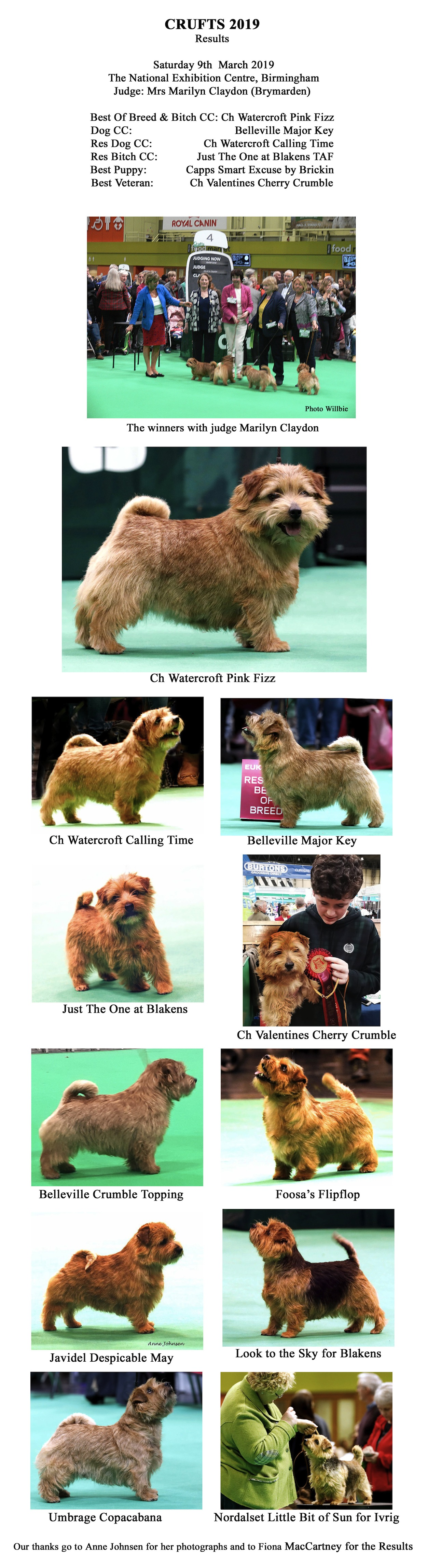 CRUFTS 2019 Winners