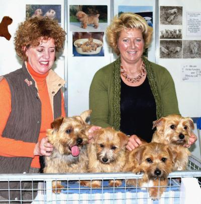 Linda Philip and Karen Hurrion with Welli, Maddy, Mr Fudge  and Granny Pukka