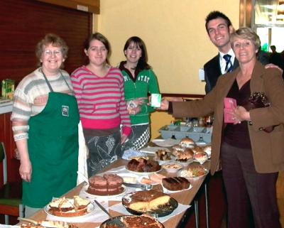 Mrs Churchill and her helpers produced fabulous food for us  - all smiles from Andrew Gullick and Jane Devereux!