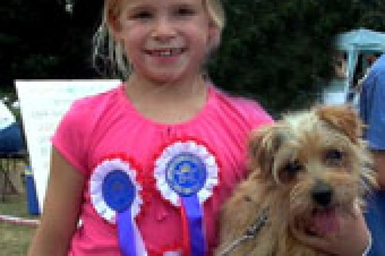 "Felicty won 3 rosettes with her Norfolk ""Crisp"""